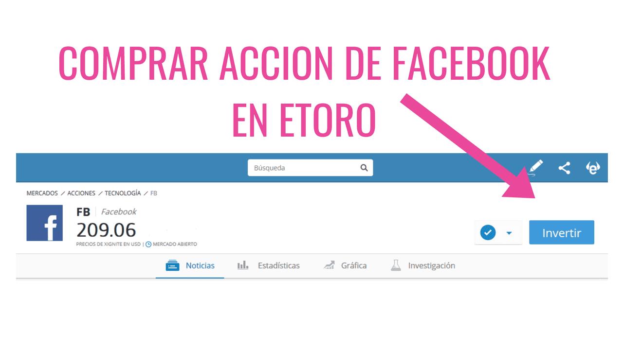 comprar acciones de facebook en Etoro