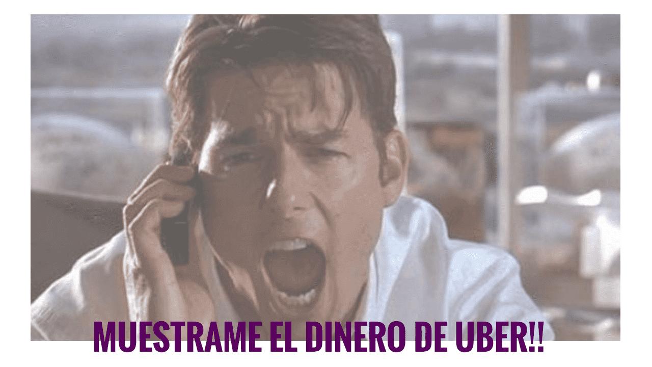 dinero gando en uber