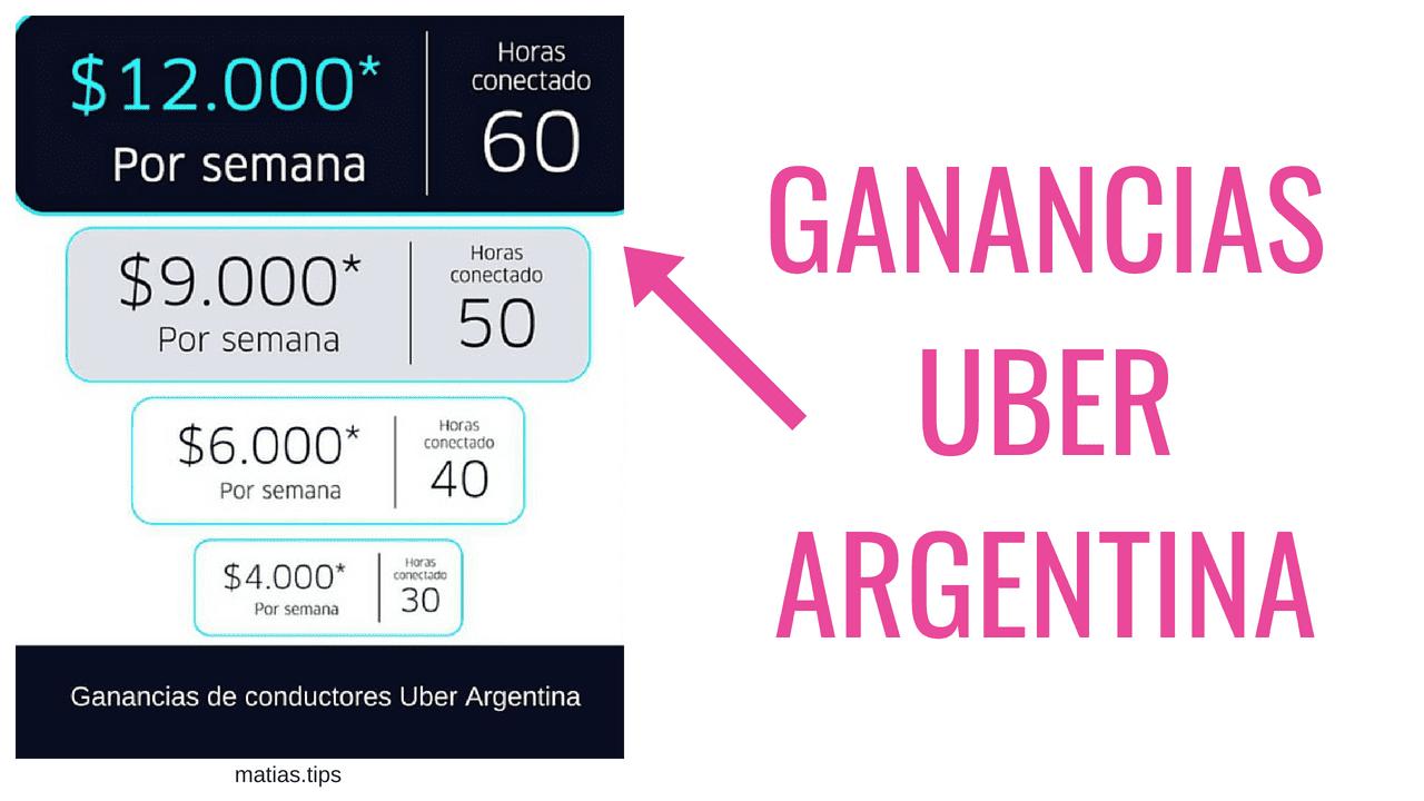 ganancias como conductor de uber en argentina